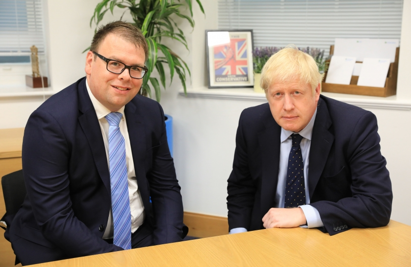 Photograph of Mark Fletcher with Prime Minister Boris Johnson